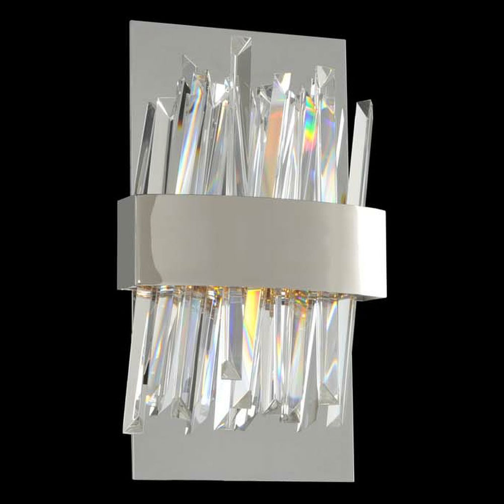 Modern Chrome Wall Sconces : Allegri 030220 Glacier Modern Chrome LED Wall Lighting Sconce - ALL-030220