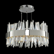 Allegri 030253 Glacier Modern Chrome LED 20  Drum Pendant Lighting