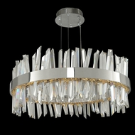 Allegri 030254 Glacier Contemporary Chrome LED 25  Drum Pendant Light