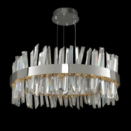 Allegri 030255 Glacier Modern Chrome LED 32  Drum Lighting Pendant