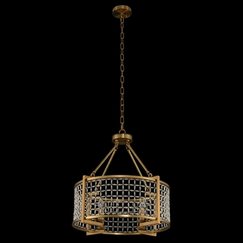 Allegri 032151-043-FR001 Verona Brushed Pearlized Brass 24  Drum Drop Ceiling Lighting