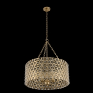Allegri 032251-038-FR001 Vita Brushed Champagne Gold 26  Drum Ceiling Pendant Light