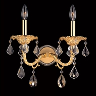 Allegri 10682 Vivaldi Two-tone Gold/24K Finish 13.5  Wide Candle Wall Lighting