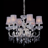 Allegri 10818 Gabrielli Two-tone Silver Finish 24  Wide Ceiling Chandelier