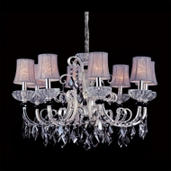 Allegri 10819 Gabrielli Two-tone Silver Finish 22  Tall Hanging Chandelier