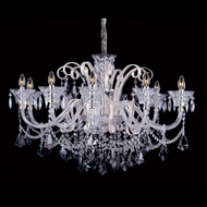Allegri 10968 Pachelbel Two-tone Silver Finish 21.6  Tall Chandelier Lighting