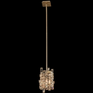 Allegri 11195-038-FR001 Vermeer Brushed Champagne Gold Mini Ceiling Light Pendant