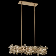 Allegri 11198-038-FR001 Vermeer Brushed Champagne Gold Island Light Fixture