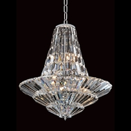 Allegri 11424 Auletta Chrome Finish 30  Wide Hanging Chandelier