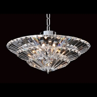 Allegri 11426 Auletta Chrome Finish 96  Tall Flush Ceiling Light Fixture