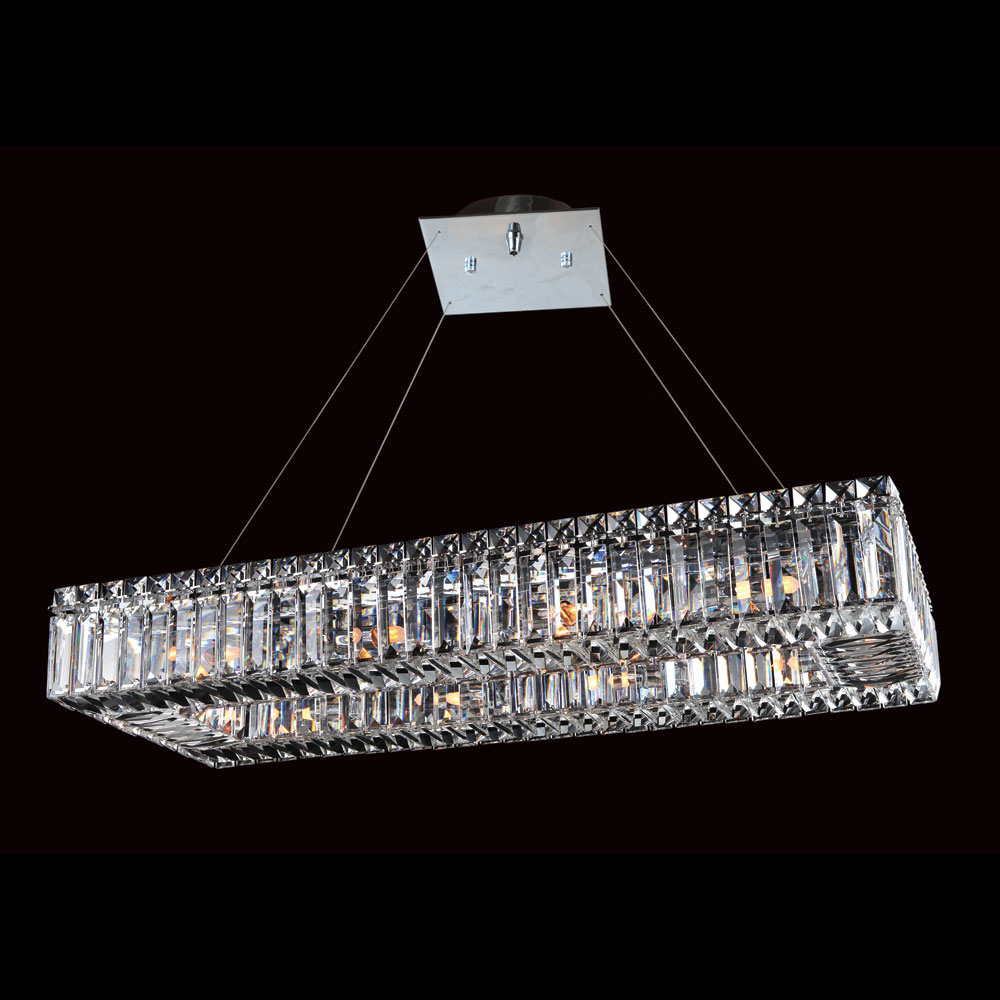 allegri 11708 quantum baguette chrome finish 96 tall island light fixture all 11708. Black Bedroom Furniture Sets. Home Design Ideas