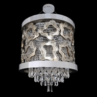 Allegri 22350 Caravaggio Chrome (with 006 antique silver leaf accents). Halogen Pendant Hanging Light