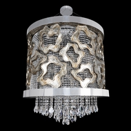 Allegri 22351 Caravaggio Chrome (with 006 antique silver leaf accents). Halogen Hanging Light Fixture