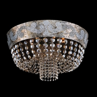 Allegri 24042 Romanov Antique Silver Leaf Halogen Ceiling Light Fixture