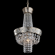 Allegri 24050 Romanov Antique Silver Leaf Pendant Light