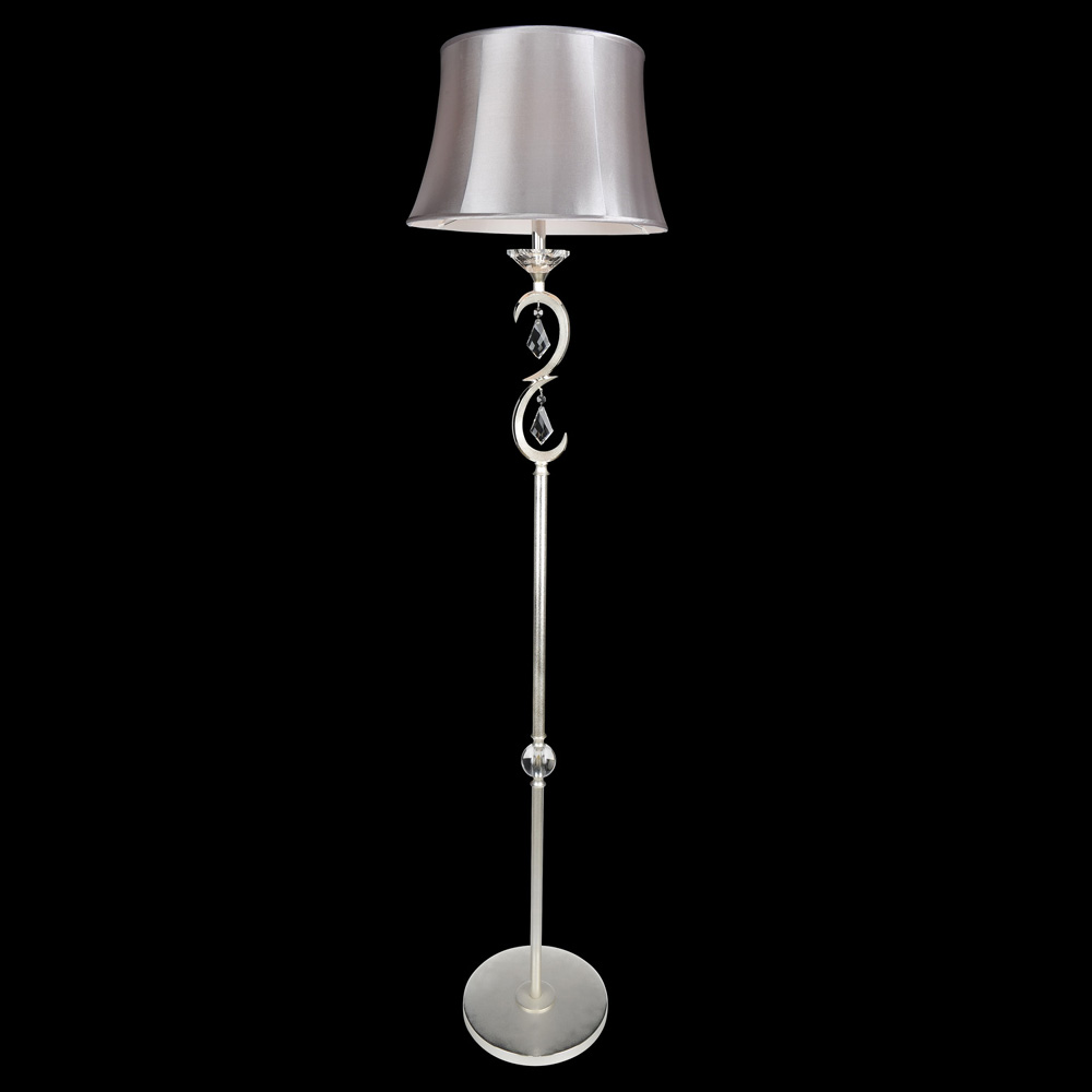 Allegri 25290 scarlatti 2 tone silver floor lamp lighting for Silver tone floor lamp