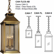 Arroyo Craftsman CAH Canterbury Outdoor Hanging Lamp
