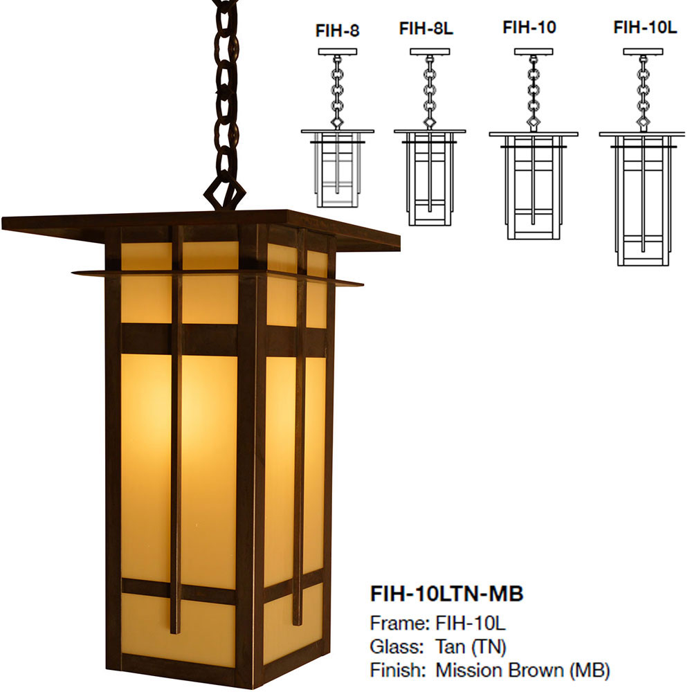 Arroyo Craftsman FIH Finsbury Mission Exterior Hanging Light - ARR-FIH