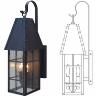 Arroyo Craftsman GESH Geminate Exterior Sconce Lighting
