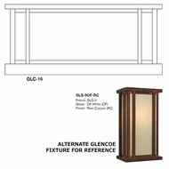 Arroyo Craftsman GLC-16 Glencoe Outdoor Column Mount