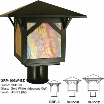 Arroyo Craftsman GRP Greenwood Mission Exterior Lamp Post Light ...