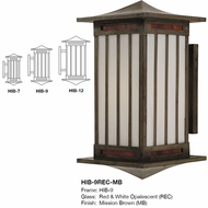 Arroyo Craftsman HIB Himeji Asian Outdoor Light Sconce