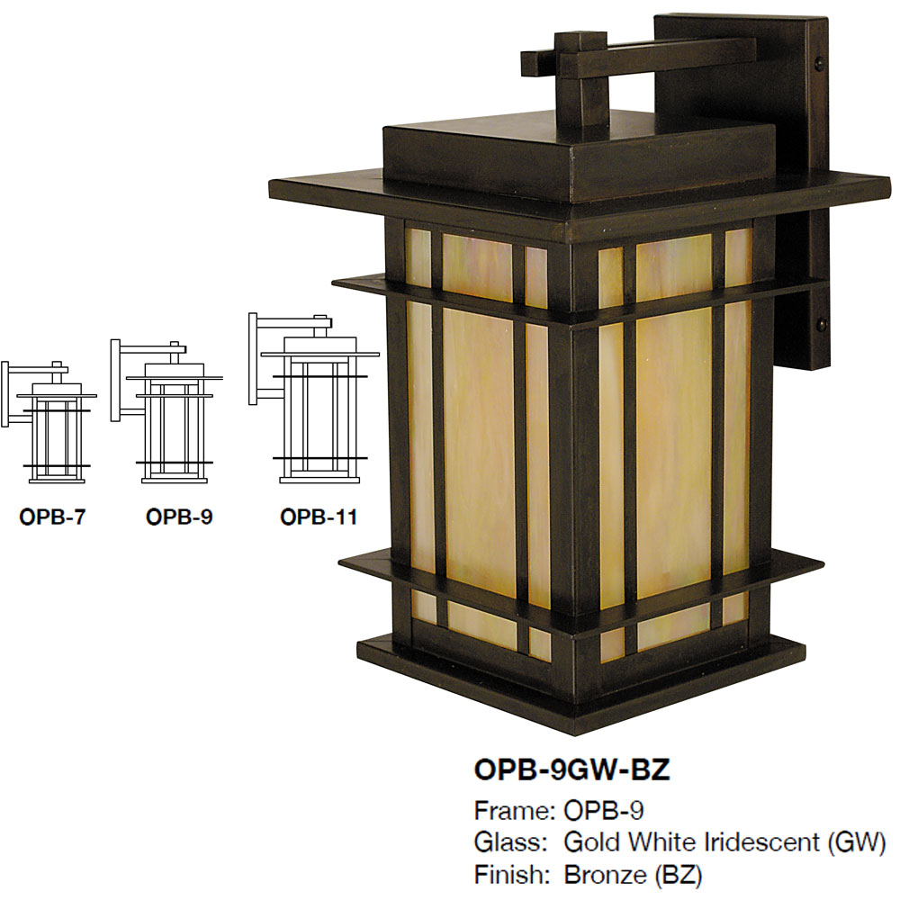 Arroyo Craftsman OPB Oak Park Craftsman Exterior Wall Sconce Lighting.  Loading Zoom