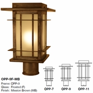 Craftsman mission style lighting fixtures discount arroyo craftsman opp oak park mission outdoor lighting post light mount aloadofball Choice Image