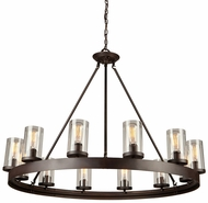Artcraft AC10002 Menlo Park Modern Dark Chocolate Chandelier Light