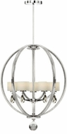 Artcraft AC10036CH Piccadilly Chrome Halogen Chandelier Lighting