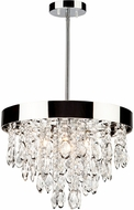 Artcraft AC10111 Elegante Modern Chrome Halogen Mini Chandelier Lamp