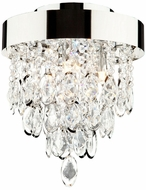 Artcraft AC10117 Elegante Modern Chrome Halogen Flush Lighting