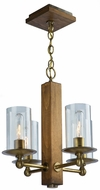 Artcraft AC10144BB Legno Rustico Burnished Brass Mini Chandelier Light