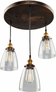 Artcraft AC10163 Greenwich Copper Brown Multi Ceiling Light Pendant