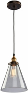 Artcraft AC10166 Greenwich Copper Brown Mini Ceiling Pendant Light