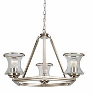 Artcraft AC10233BN Dorsett Contemporary Brushed Nickel Mini Lighting Chandelier
