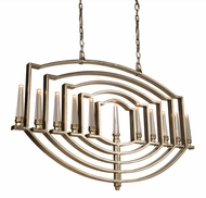 Artcraft AC10251SL Preceptions Modern Silver Leaf Halogen Island Lighting