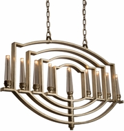 Artcraft AC10259SL Preceptions Modern Silver Leaf Halogen Kitchen Island Light