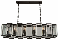 Artcraft AC10260 Palisades Contemporary Matte Black Island Light Fixture