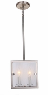 Artcraft AC10300SN Harbor Point Modern Satin Nickel Mini Drop Ceiling Light Fixture