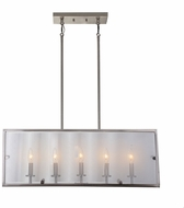 Artcraft AC10304SN Harbor Point Modern Satin Nickel Island Lighting