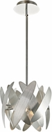 Artcraft AC10370BN 5th Avenue Contemporary Brushed Nickel & Chrome Halogen Mini Hanging Light Fixture