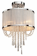 Artcraft AC10384 Valenzia Chrome Flush Mount Lighting Fixture