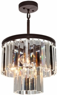 Artcraft AC10403JV El Dorado Java Brown Mini Chandelier Light