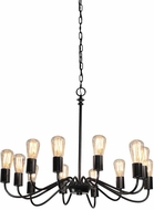 Artcraft AC10432BK Jasper Park Contemporary Black Hanging Chandelier