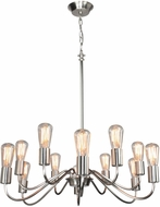 Artcraft AC10432BN Jasper Park Modern Brushed Nickel Chandelier Light