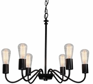 Artcraft AC10436BK Jasper Park Modern Black Lighting Chandelier