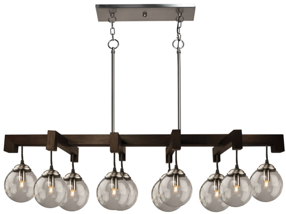 Artcraft ac10440en espresso modern espresso halogen for Island kitchen lighting fixtures