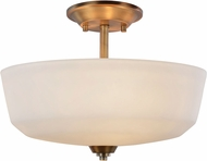 Artcraft AC10468VB Hudson Vintage Brass Ceiling Lighting Fixture