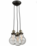 Artcraft AC10483 Edison Multi Pendant Lighting Fixture